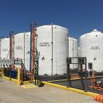 Sodium Hypochlorite holding tanks